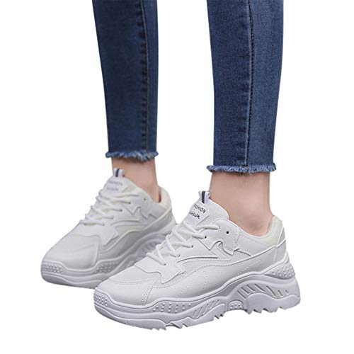 984c7dda1ff Womens Sports Running Shoes Walking Tennis Sneakers Breathable Lace Up Slip  On Mighty Walk Lightweight Platform