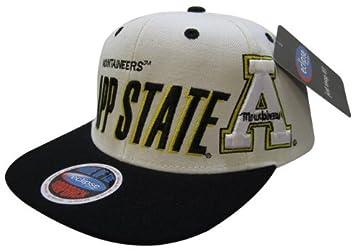 NCAA Appalachian State Mountaineers Big N Bold Style Snapback Hat, White/Black