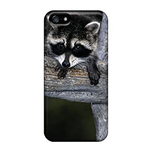 Iphone 5/5s Cases Covers - Slim Fit Protector Shock Absorbent Cases (racoon)