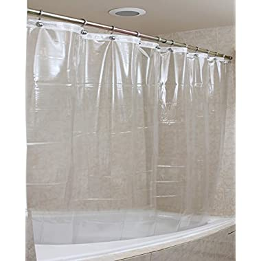 Strongest Mildew Resistant Shower Curtain on the Market-100% Anti-Bacterial 10 Gauge Heavy Duty Liner-Waterproof-72x72 Inches-Clear