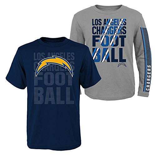 Outerstuff Youth Boys San Diego Chargers Tee Shirt NFL 3 in 1 Combo (YTH (7)) ()