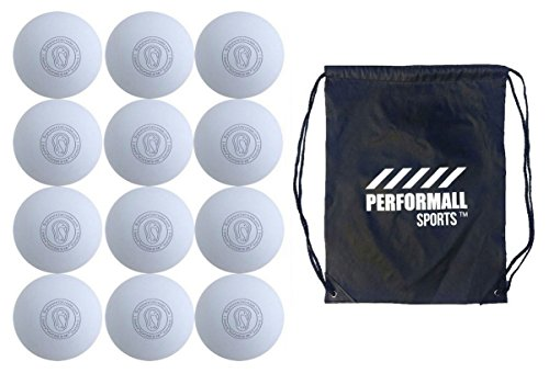 Signature Lacrosse Bundle Lacrosse Balls White NOCSAE & SEI Approved with 1 Performall Sports Drawstring Bag White-12P