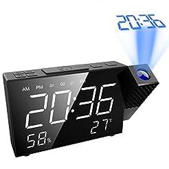AMIR Projection Alarm Clock, 6.5