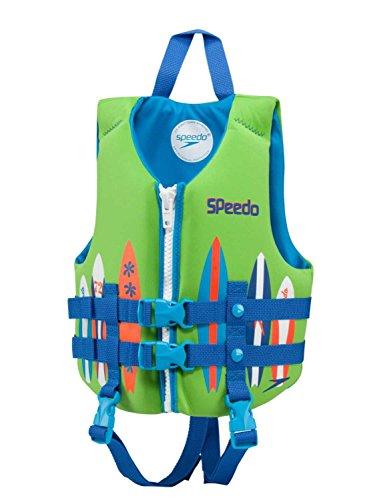 Speedo Neoprene Personal Flotation Device Swim Vest - Weight 30-50 lbs. (Green/Blue)