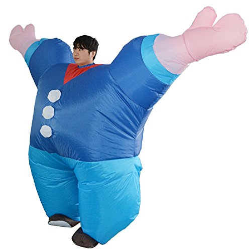 yunzhenbusiness Adult Muscle Man Popeye The Sailor Man Inflatable Suits Halloween Costume (Popeye) ()