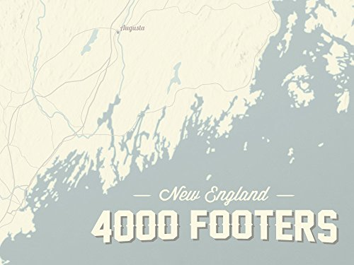Map Of New England 4000 Footers.Best Maps Ever New England 4000 Footers Map 18x24 Poster Beige