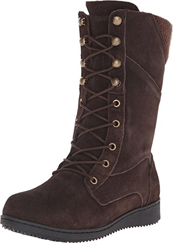 Northside Women's Cece Insulated Fashion Boot, Dark Brown, 9 M US - Suede Waterproof Fashion Boots