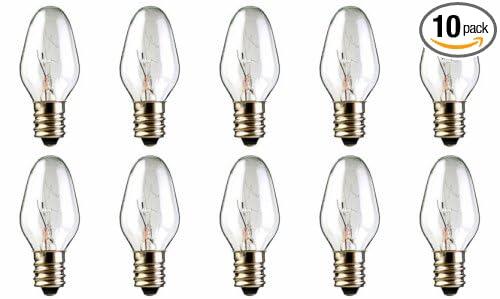 15 Watt Night Light Bulbs: 10-Pack 15 Watt Bulbs for Scentsy Plug-In Nightlight Warmer wax diffuser,,Lighting