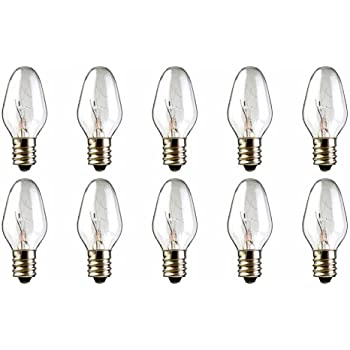 10 Pack 15 Watt Bulbs For Scentsy Plug In Nightlight Warmer Wax Diffuser 15w 120 Volt