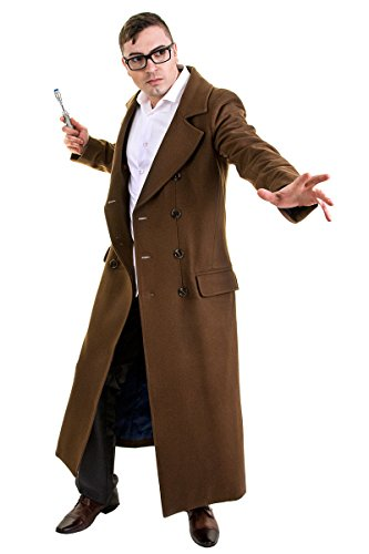 Doctor Who Men's Tenth Doctor's Coat Extra-Large Brown (10th Doctor Dress)