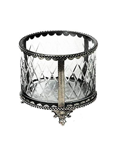 Caixa Retangular Vidro Com Nickel Sarquis Samara Prata