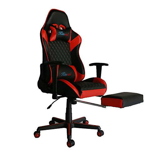 41rfP3LVzJL - Kinsal Gaming Chair Including Headrest and Lumbar Support, Executive Computer Chair High-back Ergonomic Desk Chair Racing Chair, Leather Office Chair