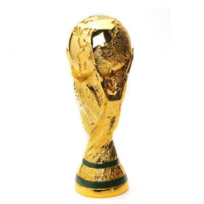 (Wanson World Cup Trophy Replica Football Fans Souvenir FIFA 2018 Russia World Cup Model Gift Plating Football Medal Model 3D Gold Resin Handicraft,L)