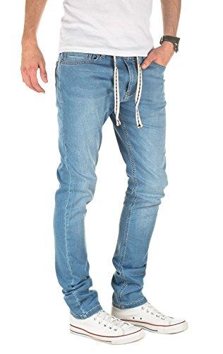 Yazubi hombre Pantalón de deporte Rick - Vaqueros - slim fit Azul (Moonlight Blue 184027)