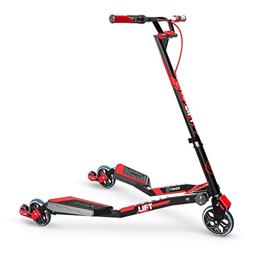 - Yvolution Y Fliker Lift Scooter, Red, One Size