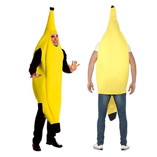 [2win2buy Costume Banana Suit Lightweight Halloween Adult Banana Funny Suit] (Halloween Costumes Suits)