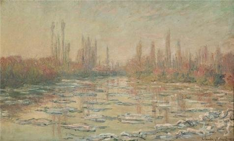 Estate Detroit Detroit Single - Oil Painting 'Floating Ice, 1880 By Claude Monet', 10 x 17 inch / 25 x 42 cm , on High Definition HD canvas prints is for Gifts And Bed Room, Foyer And Living Room Decoration, wholesale