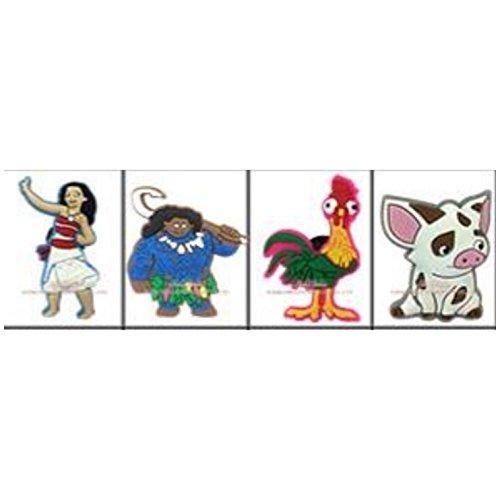 Moana Set of 4 PVC Jibbitz (Generic) Crocs Natives Disney Party Favors by CharmTM