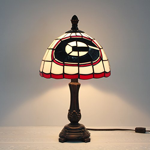 (9-inch NFL Green Bay Packers Stained Glass Table Lamp)