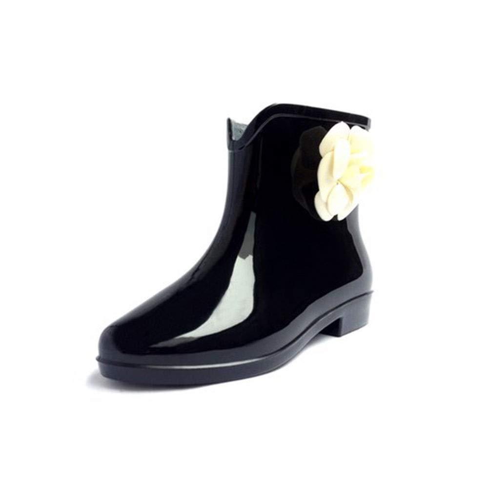 Non-Slip wear-Resistant Waterproof Tube Flower rain Boots FXNN Rain Boots