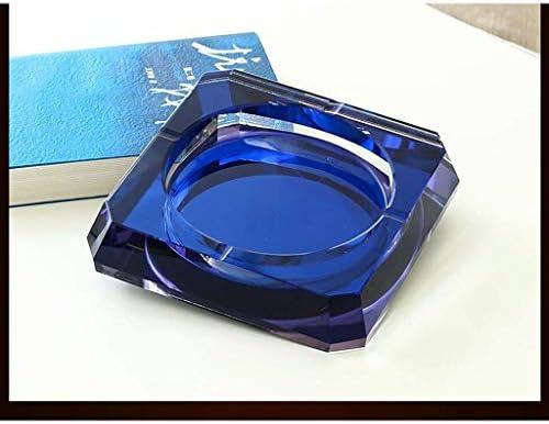 葉巻灰皿, AshtrayCreative人格ガラスクリスタル大きなベッドルームのリビングルームの正方形のファッション紫(色:ブルー、サイズ:20センチメートル)、サイズ:20センチメートル、カラー:パープル (Color : Purple, Size : 15cm)