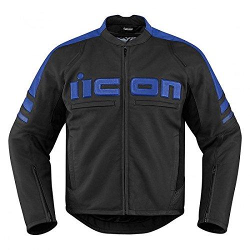 Icon Motorhead 2 Leather Jacket Blue 2XL 2810-2841