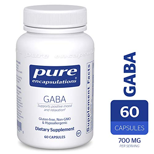 Pure Encapsulations – GABA – Supports Positive Mood and Relaxation* – 60 Capsules