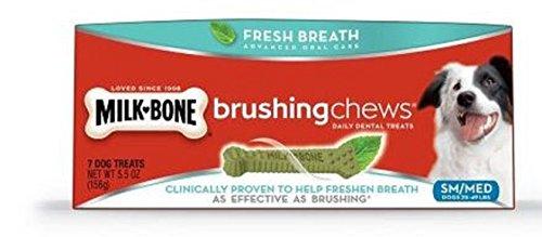 Milk-Bone Brushing Chews Fresh Breath Daily Dental Treats, S