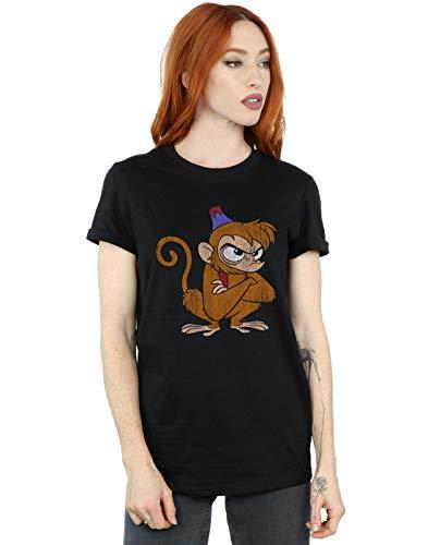 af60ad61fa Negro Abu Angry Disney Fit Novio Mujer Camiseta Del Classic Aladdin qaA7wzp6