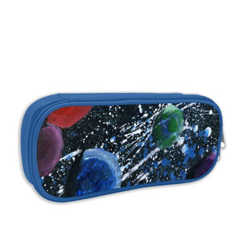 KARRYKW Da Wonders of The Solar System Student Pencil Case Coin Purse Makeup Cosmetic Bag Pen Bag