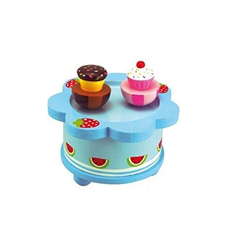 独特の上品 MusicBox Kingdom 43861 100mm Wooden Wooden B077YTPWBS Room Music Box Dancing Cupcakes Turn To The Melody