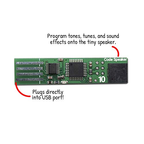 Code Speaker Toy | Intro to Computer Coding| STEM Gift for Kids 8-12 | Free Projects and Examples Included