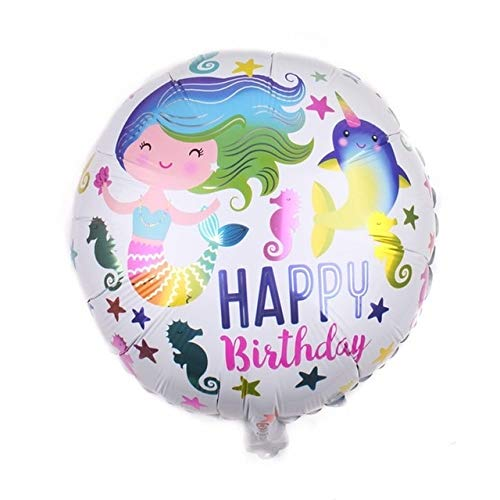 VDV Artificial Flowers 1Pc 18 inch Happy Birthday Foil Balloons Children Birthday Inflatable Toys Ballons Helium Foil Balloons for Kids Party Supplies Cherry Blossom Flowers Artificial-15