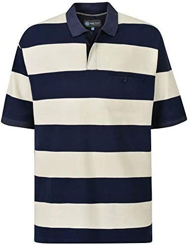 Kam Hombre Pique Polo Rugby (5237) - Azul Marino, 3XL (56-58 ...