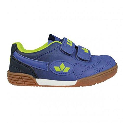 Lico Bernie V, Zapatillas de Balonmano para Niños, Amarillo Limón/Azul Blau/Marine