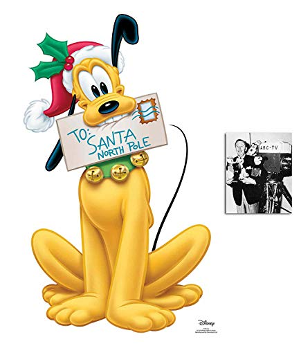 (Pluto with Letter to Santa Official Disney Lifesize Cardboard Cutout Fan Pack, 90cm x 56cm Includes 8x10 Star Photo)