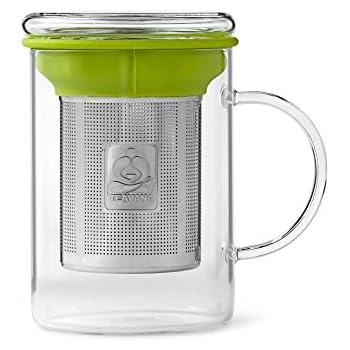Amazon Com Asobu Tea Mug With Stainless Steel Infuser Travel Mugs Kitchen Amp Dining