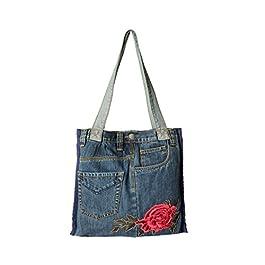 ASK 4 JEANS Denim Jeans Purse Shoulder Hand bags For Women