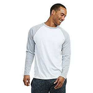Fashion Shopping Men's Full Length Sleeve Raglan Cotton Baseball Tee Shirt