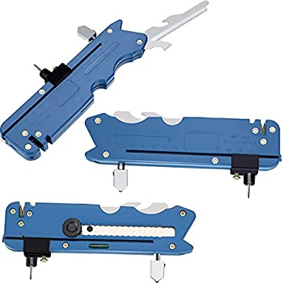 3 Pieces Multifunction Glass Tile Cutter Six Wheel Metal Cutting Tool Glass Cutter with Measuring Ruler for Home Outdoor Supplies