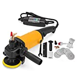 FORAVER 900W Wet Polisher Kit Professional Grinder Grinding Machine Electric Wet Polisher Set with Water Supply Line and Hose Adapter 8 Colors Polishing Pads (900W)
