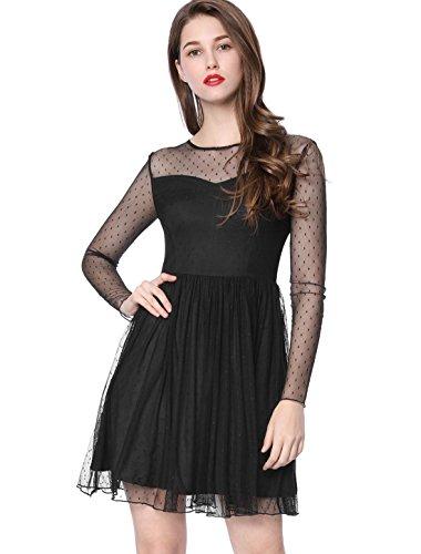 Kleid schwarz durchsichtig