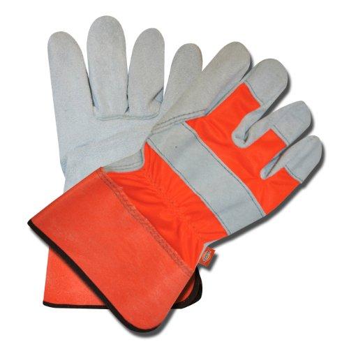 Dickies D72531 Hi-Vis Orange Cowhide Leather Palm Glove