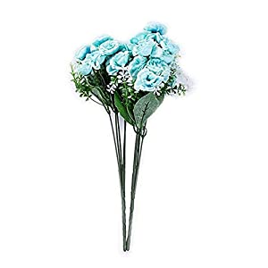 2 Branches Artificial Rose Flowers Fake Bouquet Wedding Party Festive Home Decoration 29