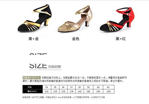 Doux Latine Femme Chaussures Taille De Amitié Été amp; Tmkoo Danse 36 Fond Nouvelles Rouge Adulte Color Carré Modernes UqBxWvwxnA