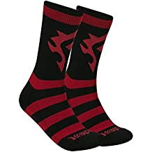 JINX World of Warcraft Horde Core Socks (1 Pair) for Video Game Fans