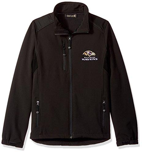 NFL Baltimore Ravensメンズソフトシェルジャケット、M、ブラック