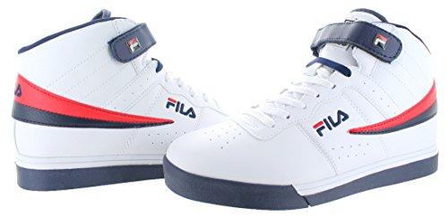 Fila Herren Vulc 13 Mid Plus 2 Wanderschuh Weiß / Fila Navy / Fila Rot-125