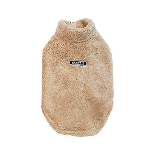 Geetobby Pet High Collar Cotton Jacket with Zipper Padded Thick Dog Fleece Coats