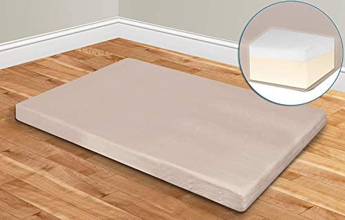 JAHRSTIM Memory Foam Mattress 5-inch Ultra Soft Supportive Pressure Relief Full Mattress Topper with Washable Cover, 77 x 54 x 5 inches